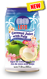 Coco Loto Coconut Juice with Pulp Can(350mL)